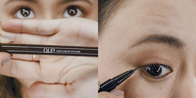 Step 1:首先用眼線筆描繪幼細纖長嘅眼線,突顯雙眼輪廓;亦可隨個人喜好加粗線條