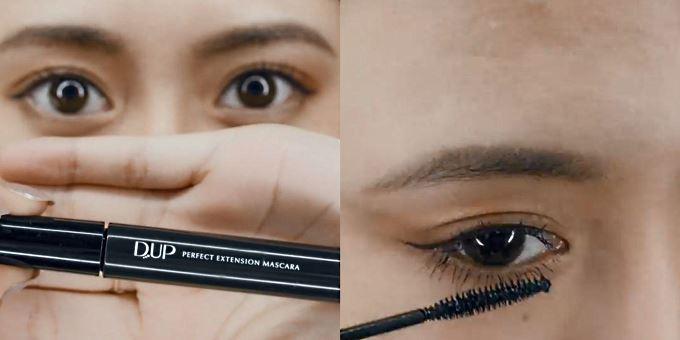 Step 2:然後喺上睫毛及下睫毛塗上睫毛膏,建議使用刷頭較細嘅睫毛膏,全面顧及上下睫毛,同時唔會令睫毛膏沾染眼周肌膚。